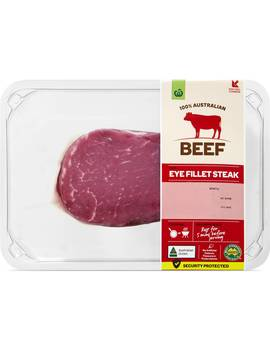 Woolworths Beef Eye Fillet Steak 250g   550g by Woolworths