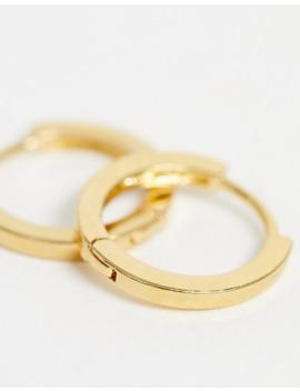 Orelia Gold Plated Huggie Hoop Earrings by Orelia