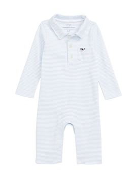 Feeder Stripe Polo Romper by Vineyard Vines