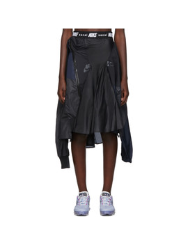Black & Navy Sacai Edition W Nrg Ga Ni 03 Skirt by Nike