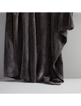Luxe Chenille Throw, Gray by West Elm