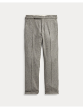 Wool Flannel Wide Leg Trouser by Ralph Lauren