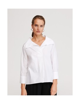 Wide Collar Blouse by Reserved