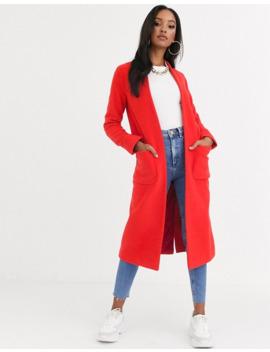 Helene Berman Edge To Edge Duster Coat In Wool Blend by Asos