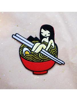 Ramen Girl   Embroidered Iron On Patch by Etsy