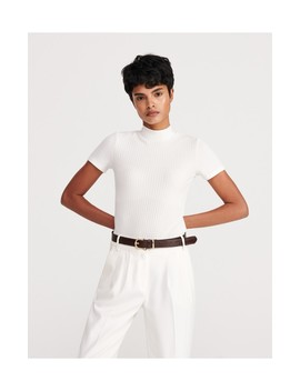 Top In Ribbed Jersey by Reserved