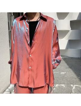 Bjorn   Long Sleeve Iridescent Shirt by Bjorn