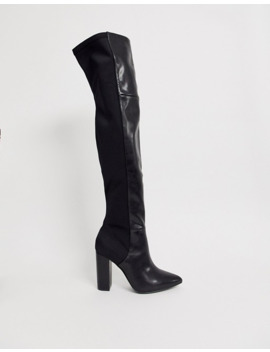 Call It Spring By Aldo Fontana Knee High Boots In Black by Call It Spring