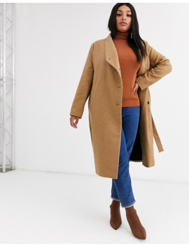 Religion Plus Wrap Front Belted Wool Coat by Religion