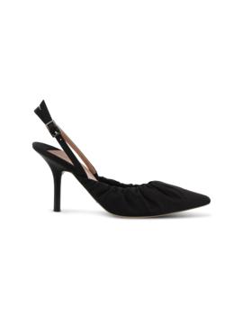 Eska Black Nylon Heels by Tony Bianco