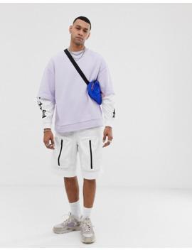 Asos Design   Sweat Shirt Oversize Double épaisseur Avec Imprimé Dragon Dans Le Dos by Asos Design