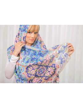 Persian Tile Pattern Floral Shawl Wrap Scarf Hand Kerchief  Cotton Hand Made Middle Eastern by Etsy