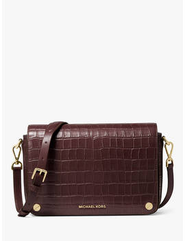 Michael Michael Kors Jet Set Leather Cross Body Bag, Barolo by Michael Kors