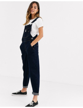 Pull&Amp;Bear Overall In Navy by Pull&Bear
