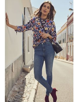 Tie Sleeve Top by Long Tall Sally