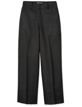 Linen High Waisted Trouser by Trenery