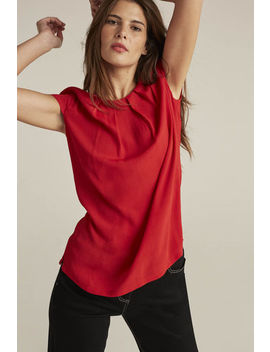 Pleat Detail Top by Long Tall Sally