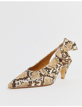 Office Memo Snake Print Kitten Heeled Slingback Shoes by Office