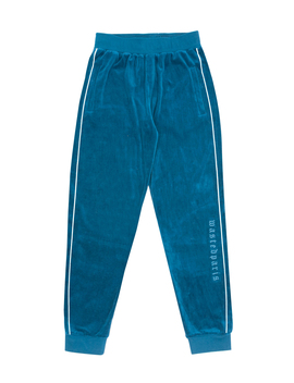Trackpant London Velour River Blue by Wasted