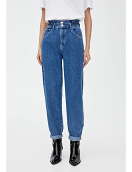 Mit Stretchbund   Jeans Straight Leg by Pull&Bear
