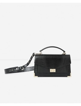 Medium Faux Lizard Emily Bag With Gold Metalware by The Kooples