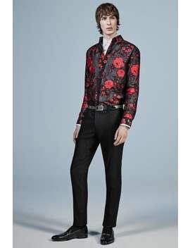 Spodnie Od Garnituru W Metalizowane PrĄŻki by Zara