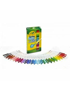 Crayola Washable Super Tips Markers 50 Colors by Crayola