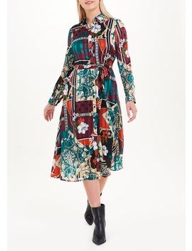 Soon Scarf Print Shirt Dress by Matalan