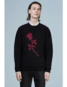 Żakardowy Sweter Z Kwiatem by Zara