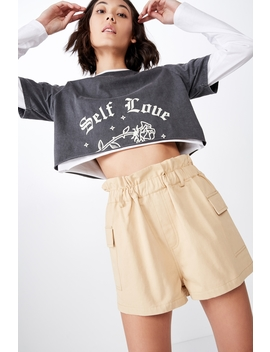 Paperbag Utility Short by Cotton On