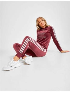 Adidas Originals 3 Stripes Velvet Long Sleeve T Shirt by Adidas Originals
