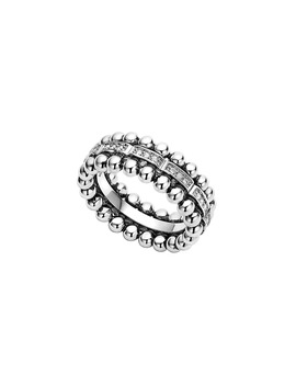 Caviar Spark Diamond Band Ring by Lagos