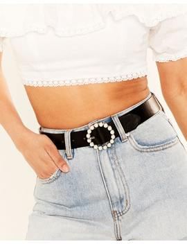 Pearl Buckle Belt by Glassons