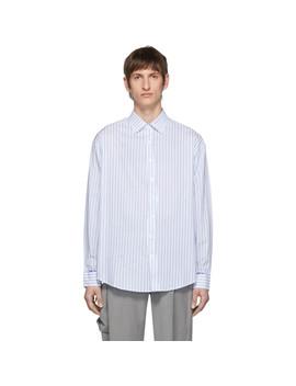White & Blue Thunder Shirt by Ader Error