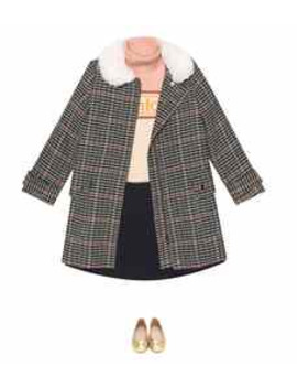 Check Coat by Chloé Kids
