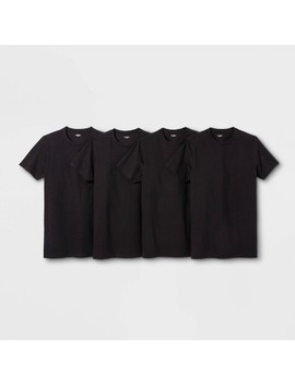 Men's Short Sleeve 4pk Crew Neck T Shirt   Goodfellow & Co™ Black by Goodfellow & Co