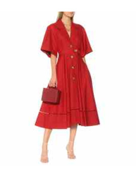 Chloé Cotton Midi Dress by Khaite