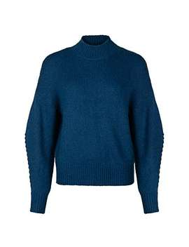 Highland Navy Blue Knitted Jumper by Olivar Bonas