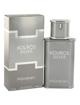 Yves Saint Laurent Kouros Silver Eau De Toilette Spray For Men 3.4 Oz by Yves Saint Laurent