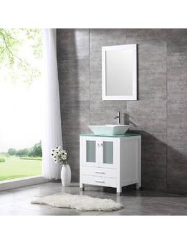 Rodarte 24'' Single Bathroom Vanity Set With Mirror by Brayden Studio