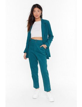 It Suits You High Waisted Corduroy Trousers by Nasty Gal