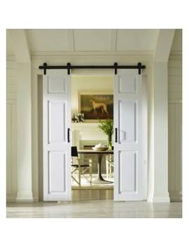 Paneled Pvc/Vinyl And Metal White Barn Door With Installation Hardware Kit by Four Seasons Outdoor Product