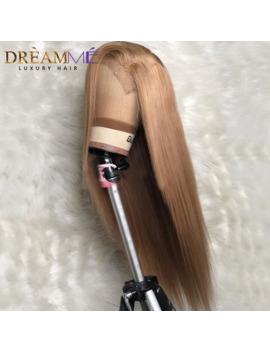 Blonde Straight Lace Front Human Hair Wig Preplucked 13 X6 Deep Part Lace Human Wigs Brazilian Remy Blond Wigs For Black Women by Ali Express.Com