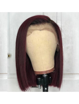 Burgundy Lace Front Wig Colored Ombre Human Hair Wigs Red Hair Preplucked Straight 1 B/99 J For Women Peruvian Remy Aimoonsa by Ali Express.Com