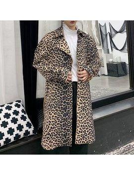 Bjorn   Leopard Print Trench Coat by Bjorn