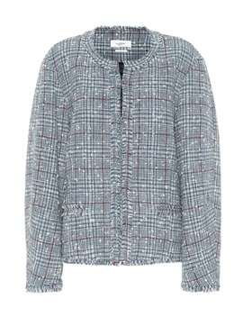 Ovia Checked Wool Blend Jacket by Isabel Marant, Étoile