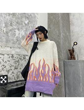 2 Dawgs   Fire Jacquard Sweater by 2 Dawgs