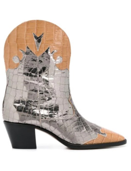 Crocodile Embossed Western Boots by Paris Texas