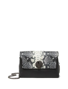 Belkis Snake Embossed Leather Crossbody Bag by Persaman New York