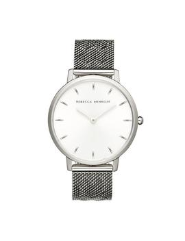 Major Silver Tone Pressed Mesh Watch, 35mm by Rebecca Minkoff